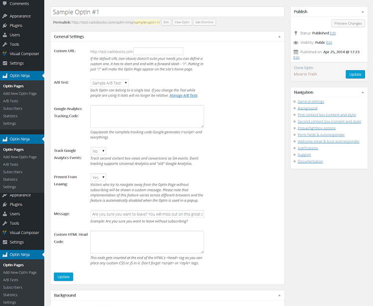 Detailed review of the WordPress Plugin Optin Ninja 4