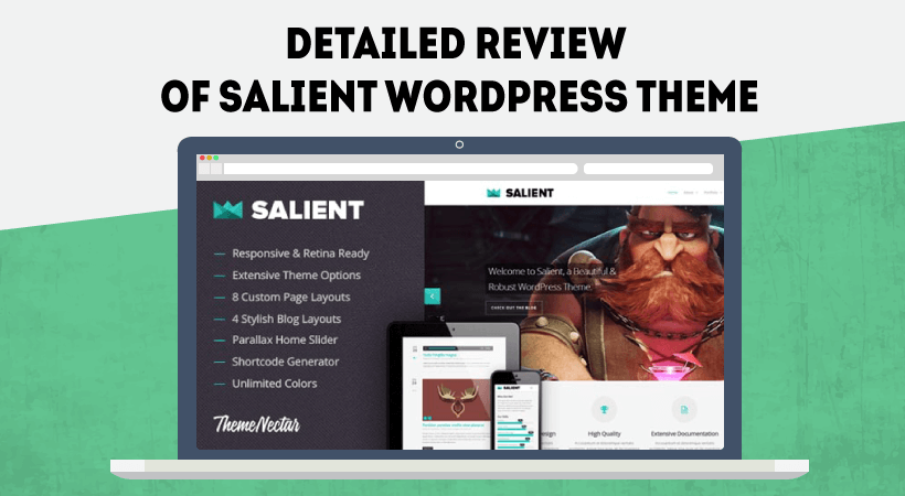 Detailed Review Of Salient WordPress Theme – Stand Out From The Crowd With This Creative WordPress Theme