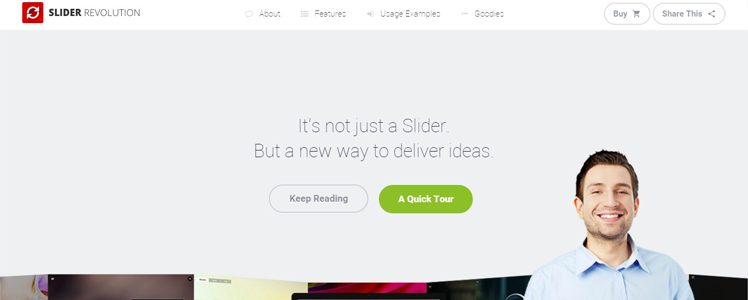 revolution slider WordPress plugin