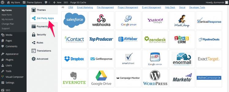 CaptainForm WordPress forms plugin 11