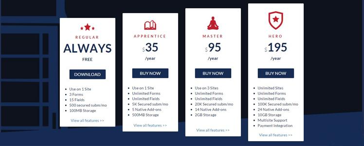 CaptainForm WordPress forms plugin 17