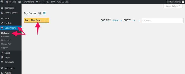 CaptainForm WordPress forms plugin 2