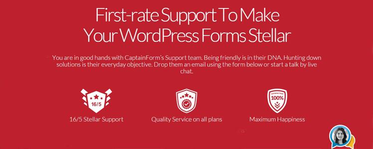 CaptainForm WordPress forms plugin 5