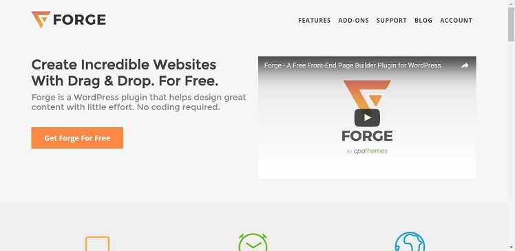 Forge - Front End Page Builder for WordPress