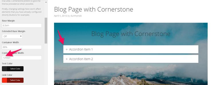 X Cornerstone page builder 8
