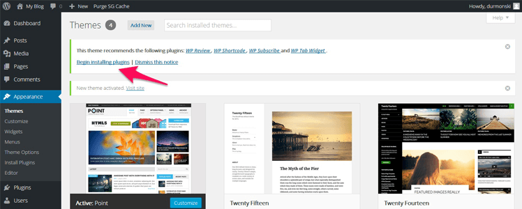 free wordpress theme point 4