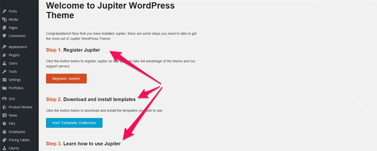 Detailed review of the WordPress Theme Jupiter 1