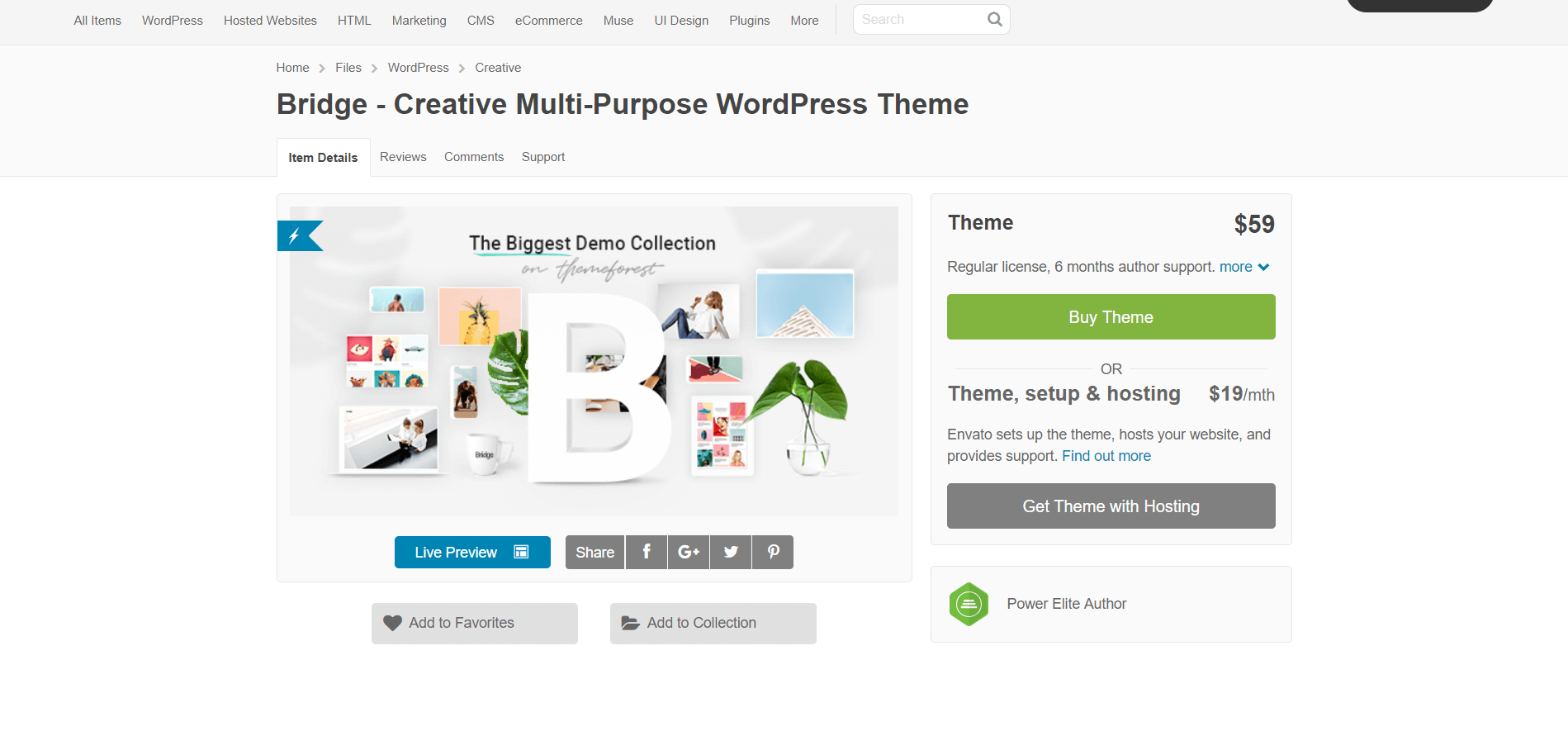 Review WordPress theme Bridge