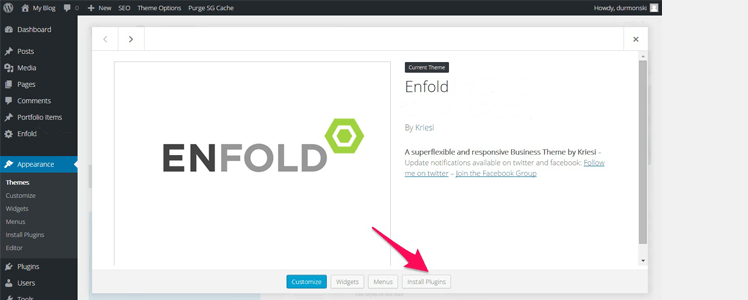 enfold wordpres theme review