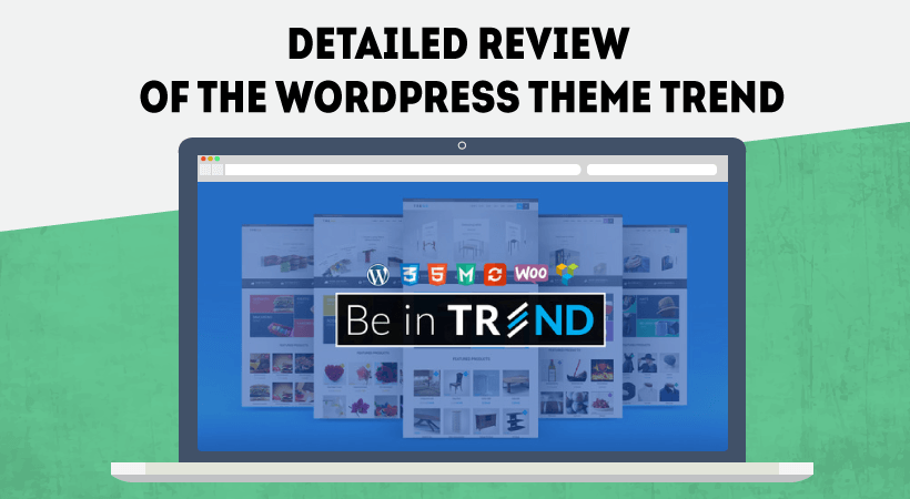 Detailed Review Of WordPress Theme Trend – Create Your Own Online Store