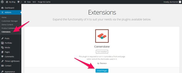 WordPress Theme X 3