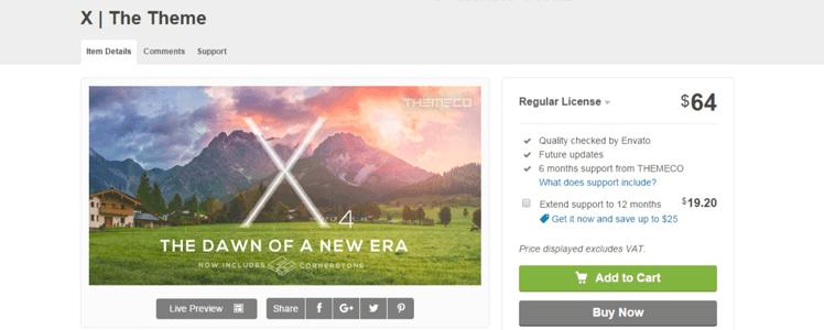 WordPress Theme X