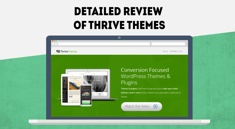 WordPress Themes  Thrive Themes Features And Price