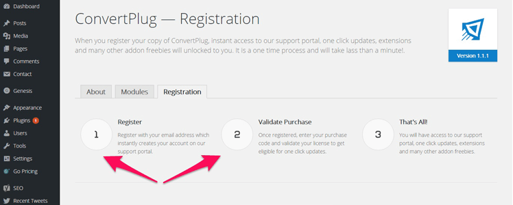 WordPress Subscription Plugin Convertplug