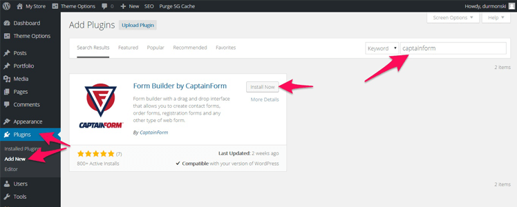 CaptainForm WordPress forms plugin