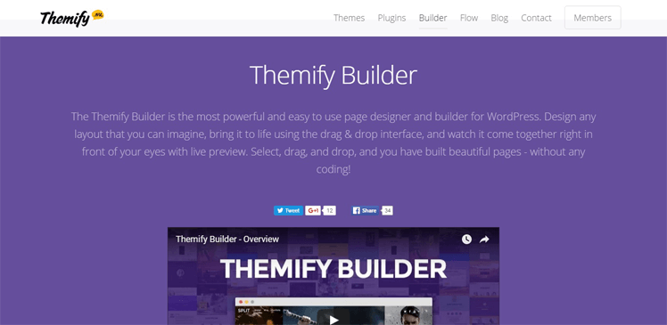 themify page builder