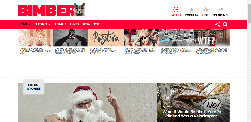Bimber WordPress blog theme