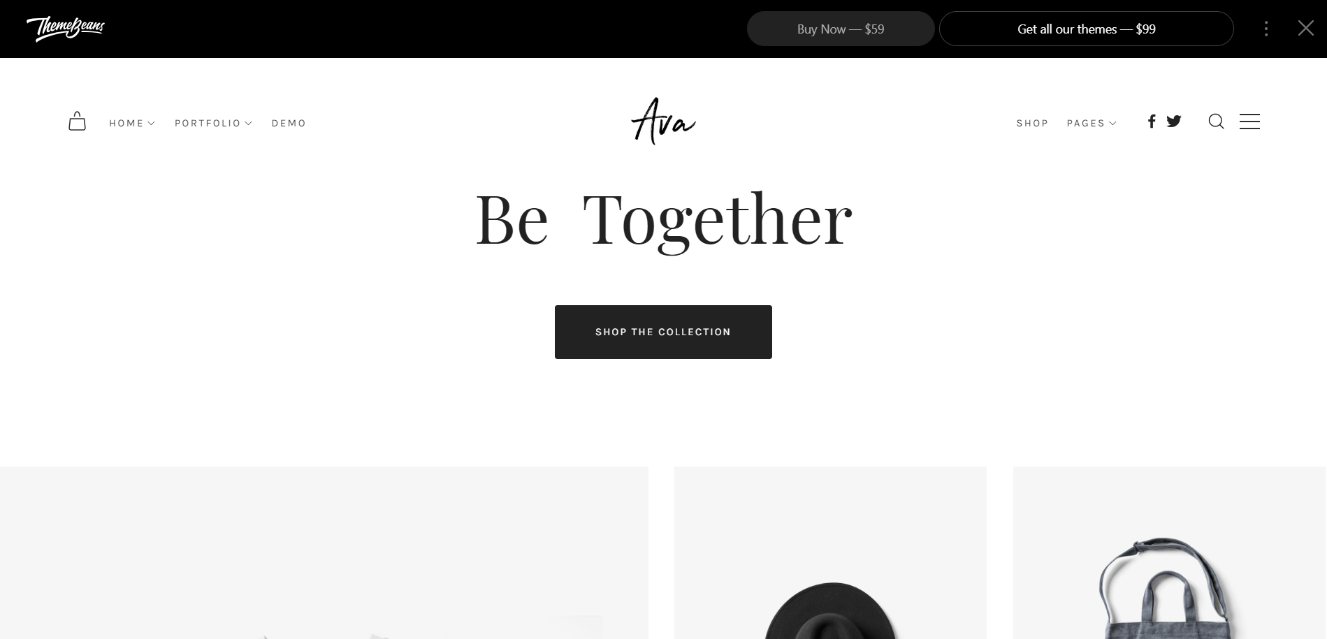 Ava Minimal WordPress Theme
