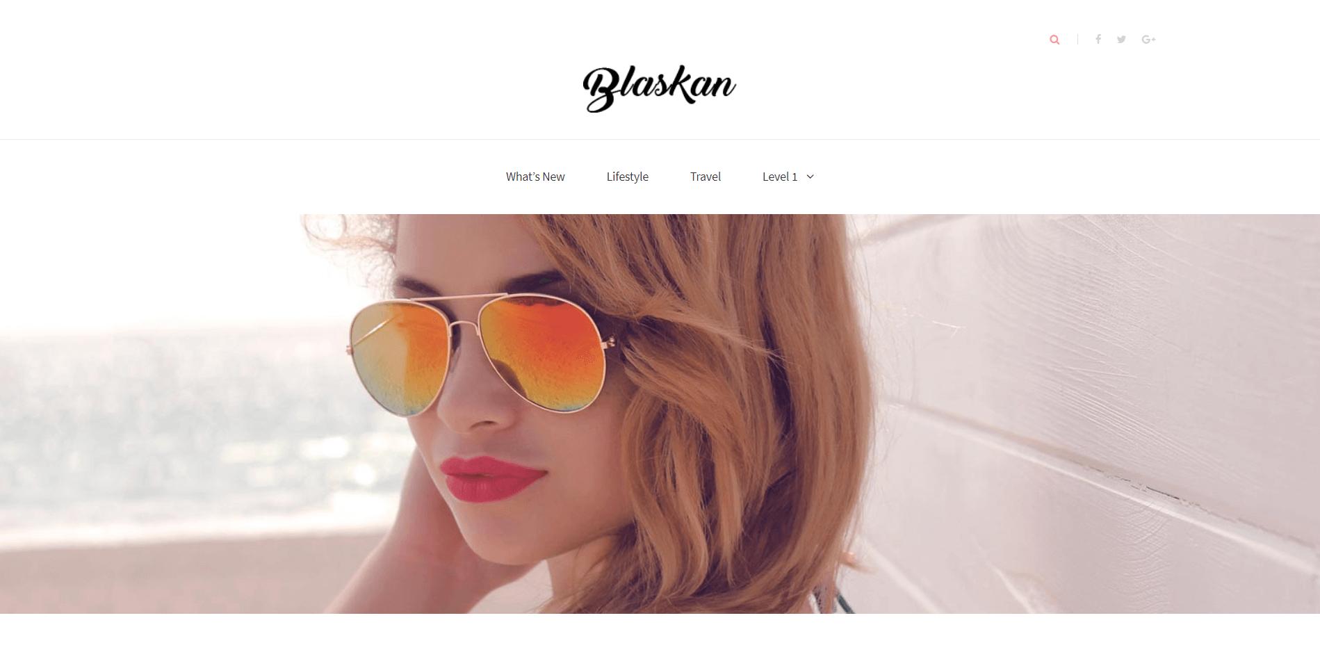 Blaskan Minimal WordPress Theme