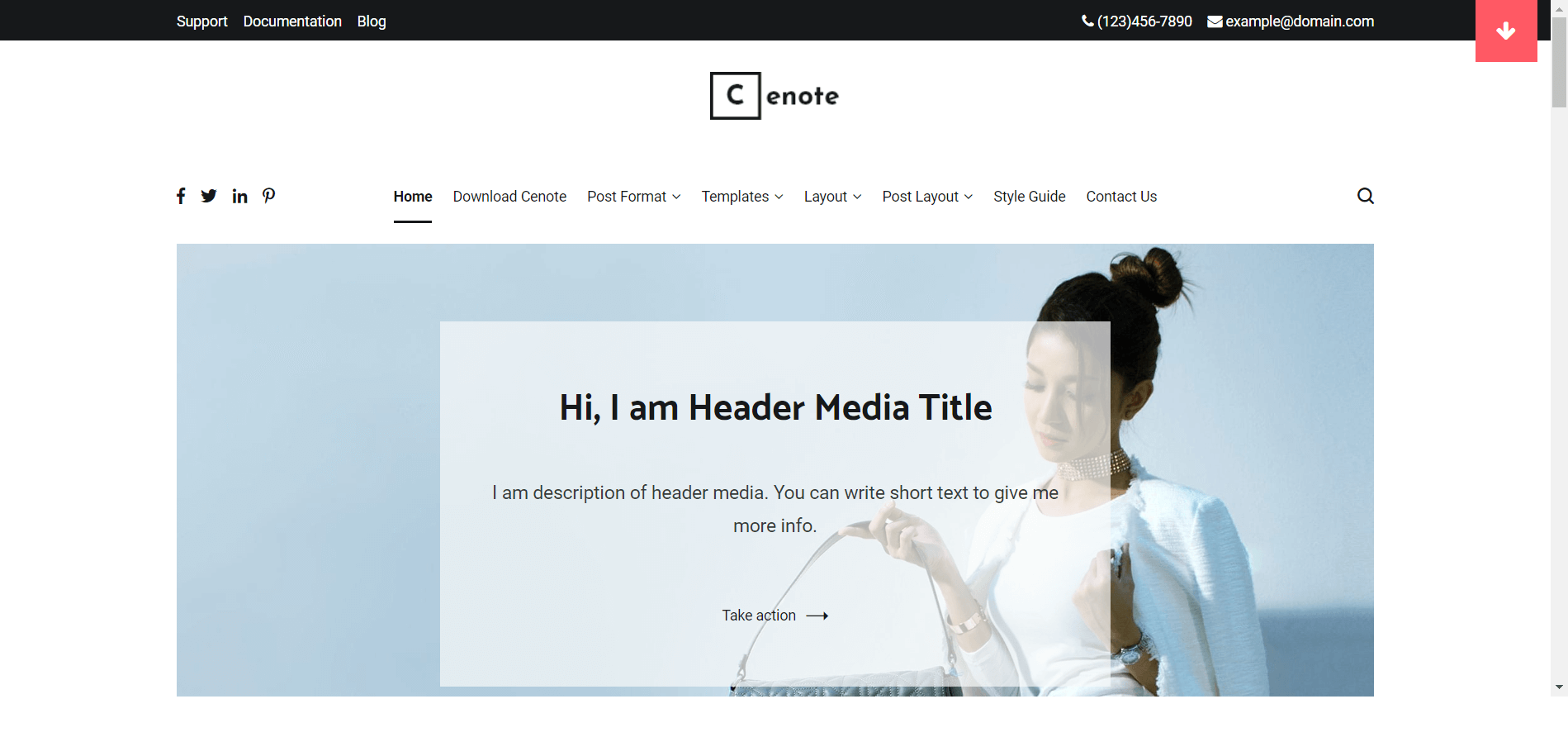 Cenote Minimal WordPress Theme