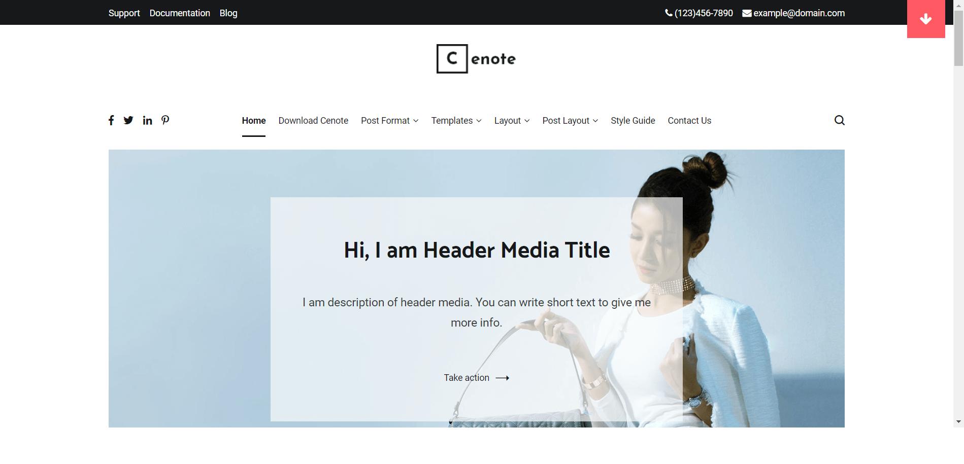 Cenote Minimal WordPress Theme