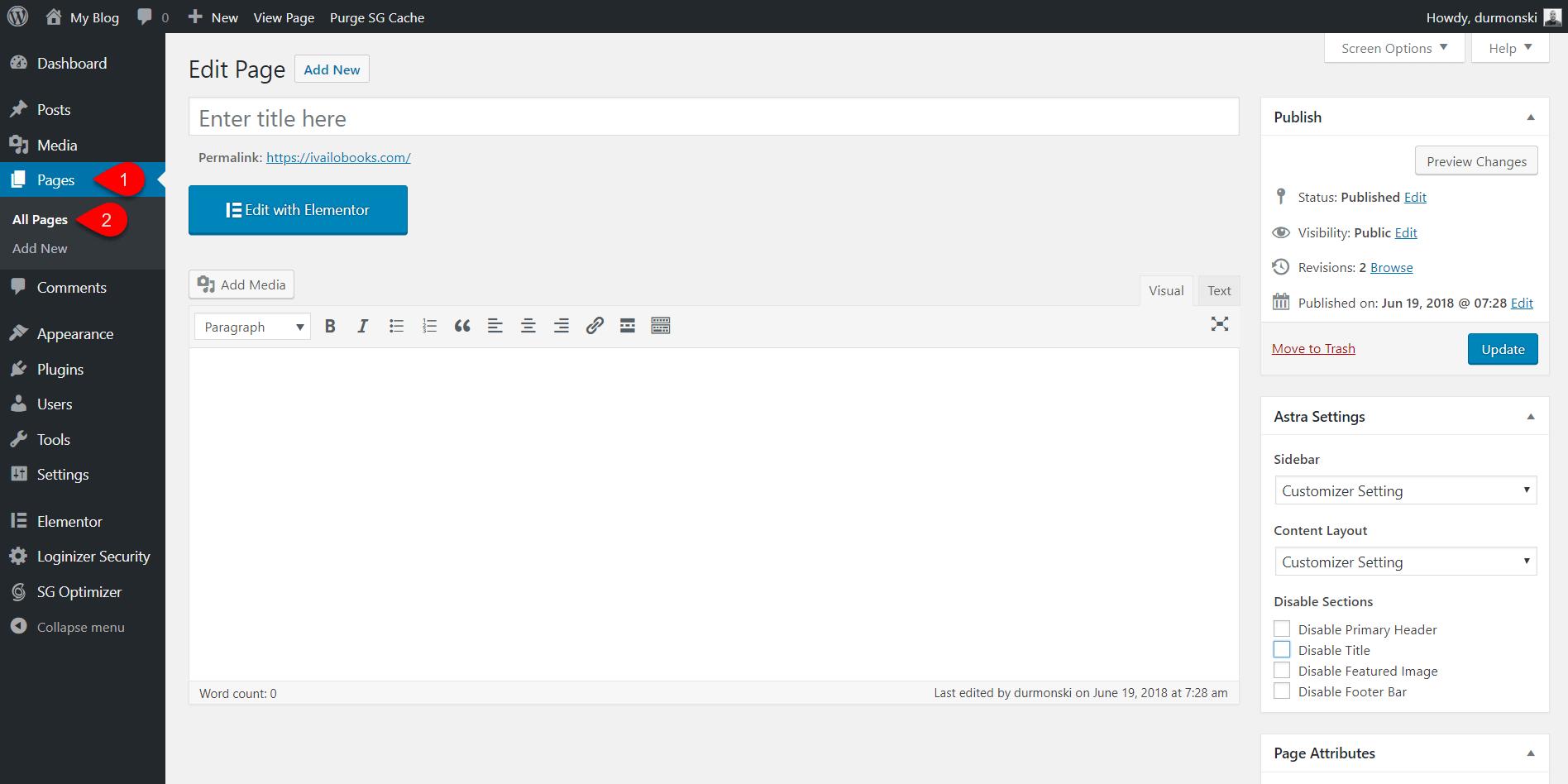 Elementor page builder 10