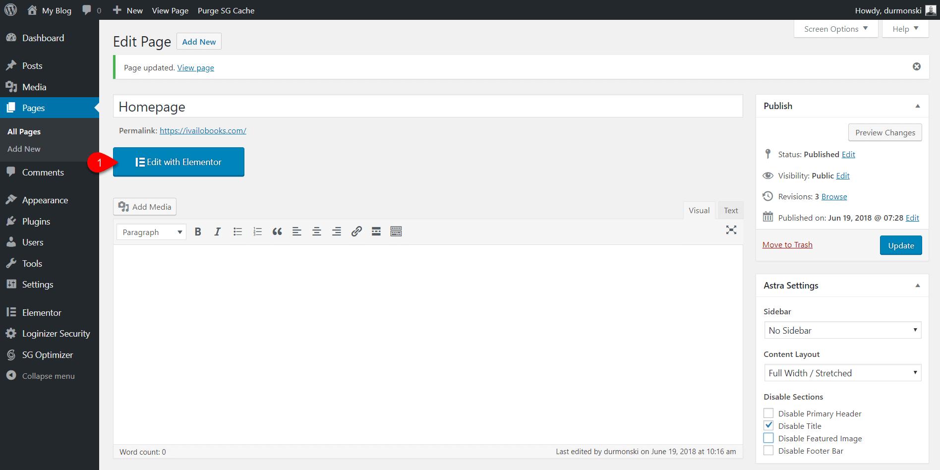 Elementor page builder 11