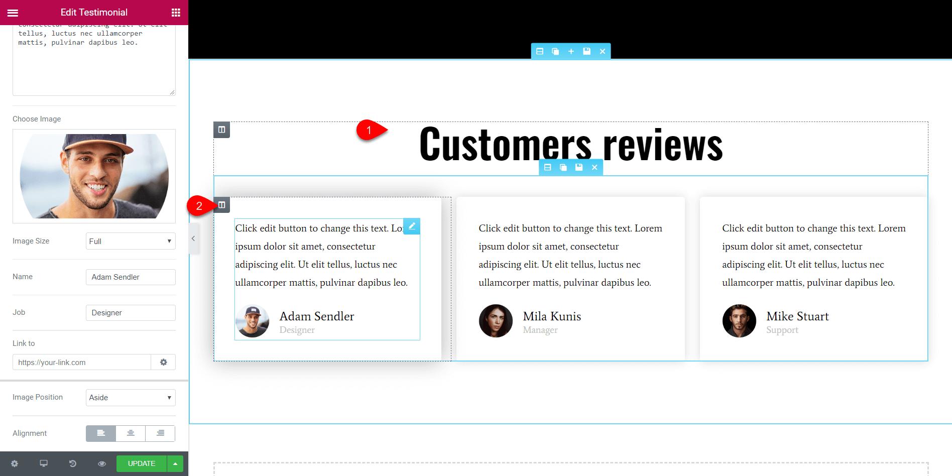 Elementor page builder 37