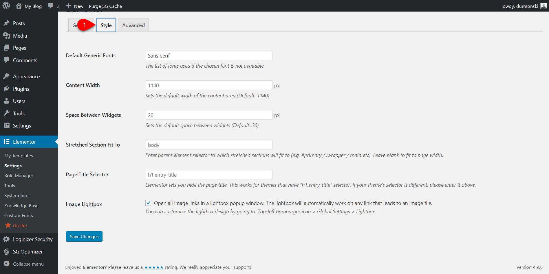 Elementor page builder 5
