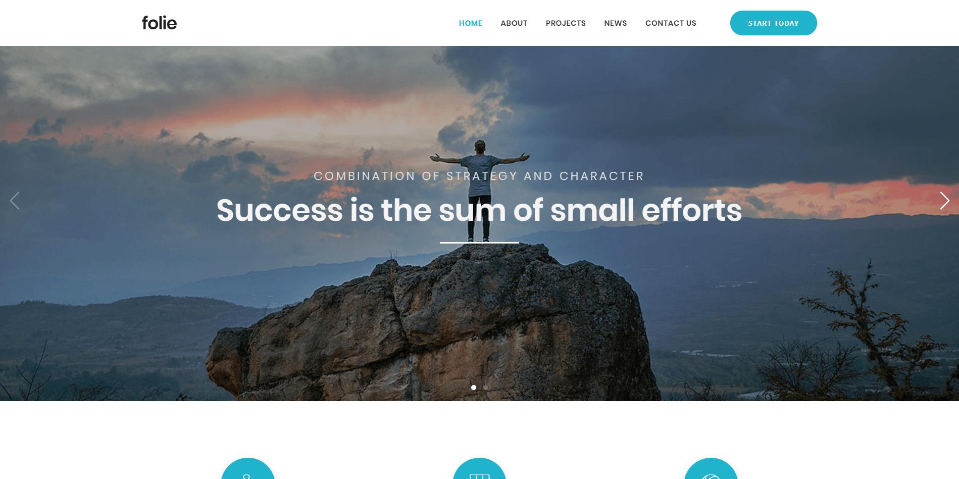 Folie Minimal WordPress Theme