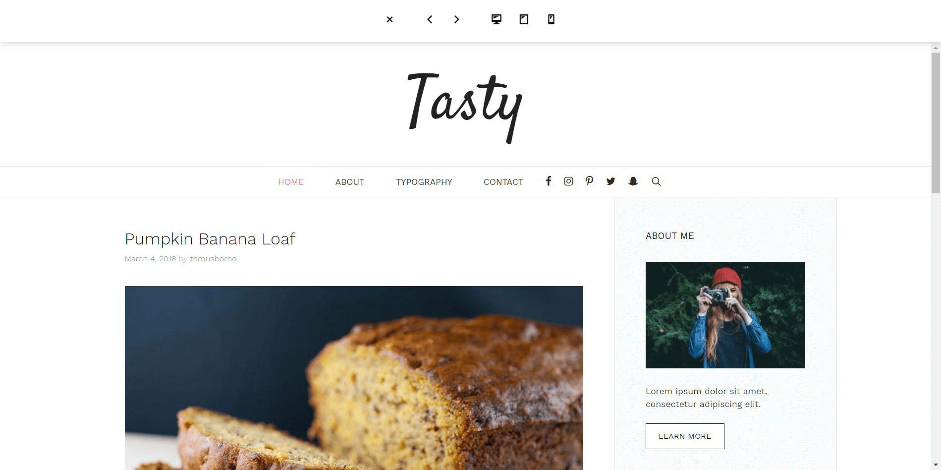 Generate Press Minimal WordPress Theme