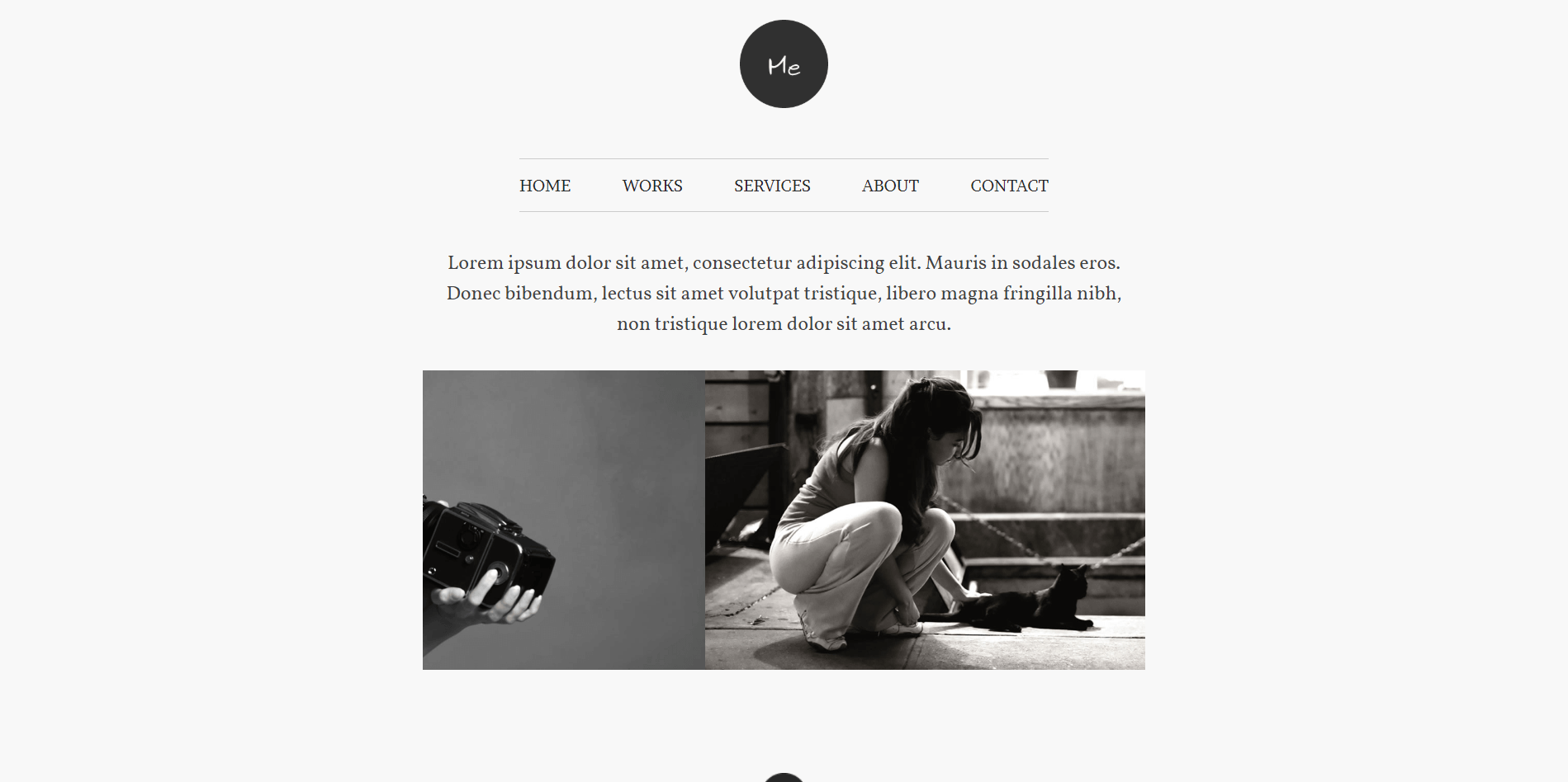 Me WordPress Minimal theme