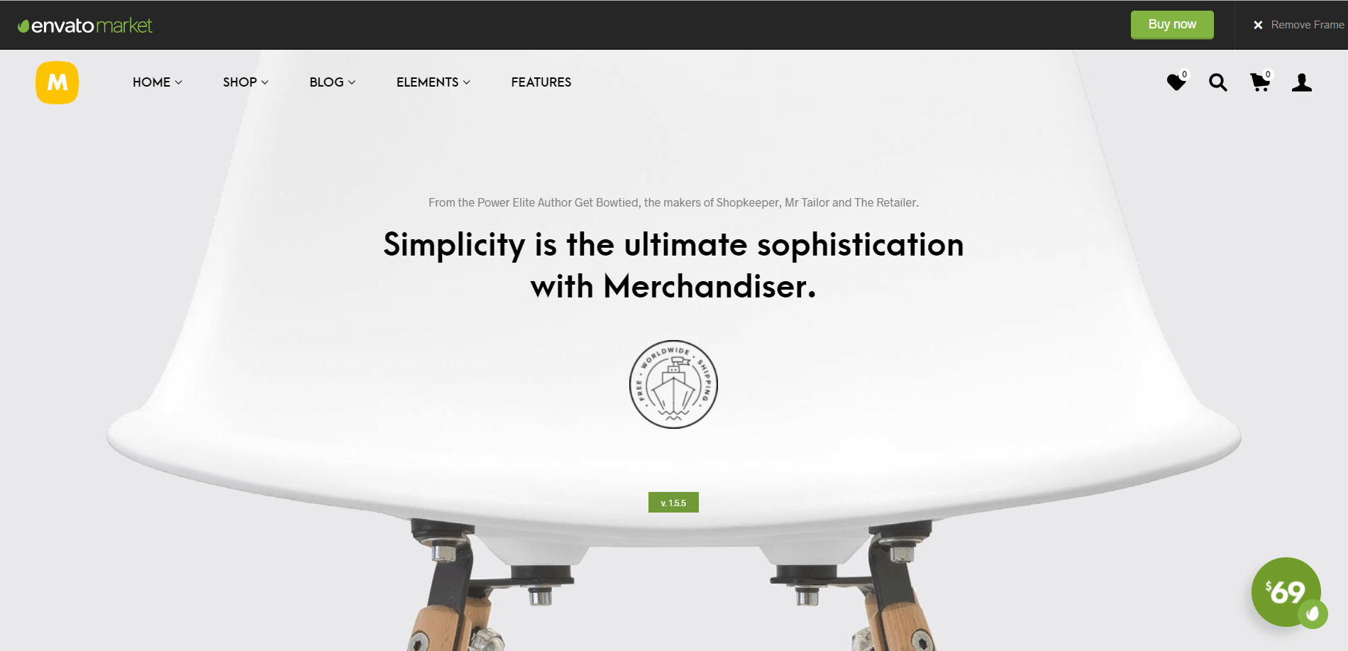 Merchandiser Minimal WordPress Theme