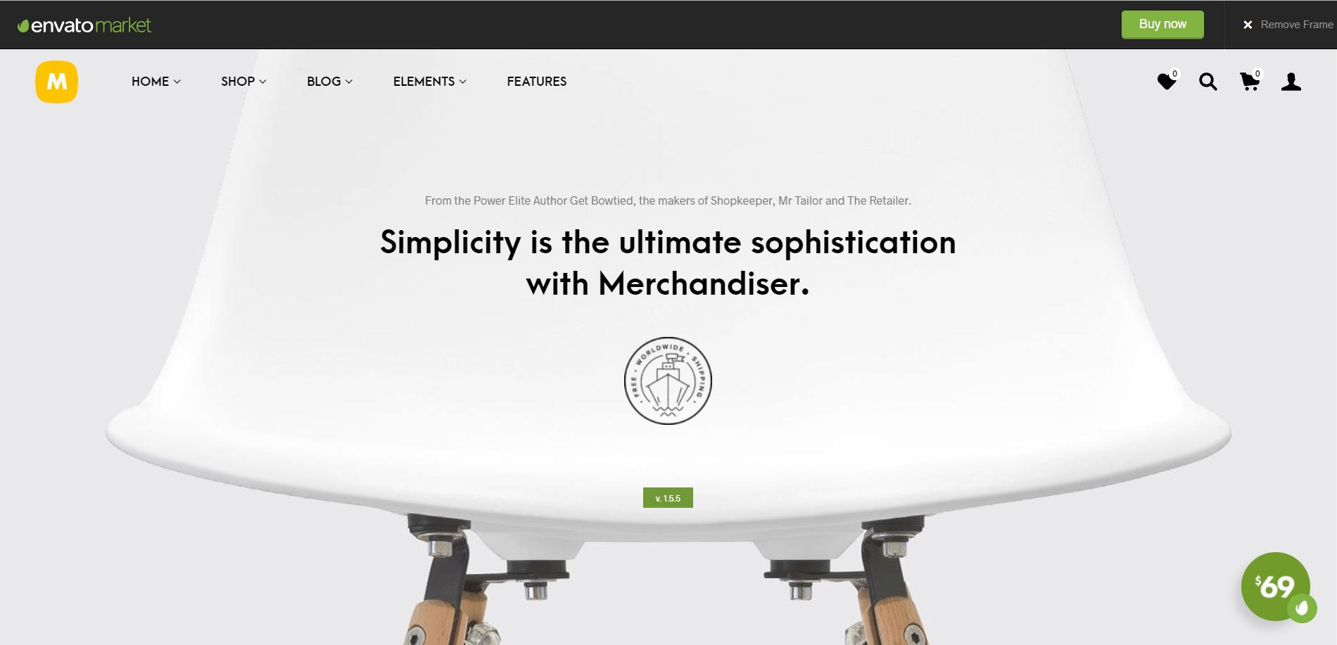 Merchandiser Minimal WordPress Theme