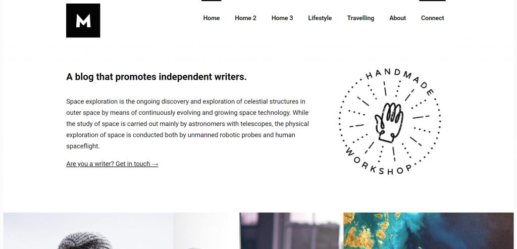 Mono Minimal WordPress theme