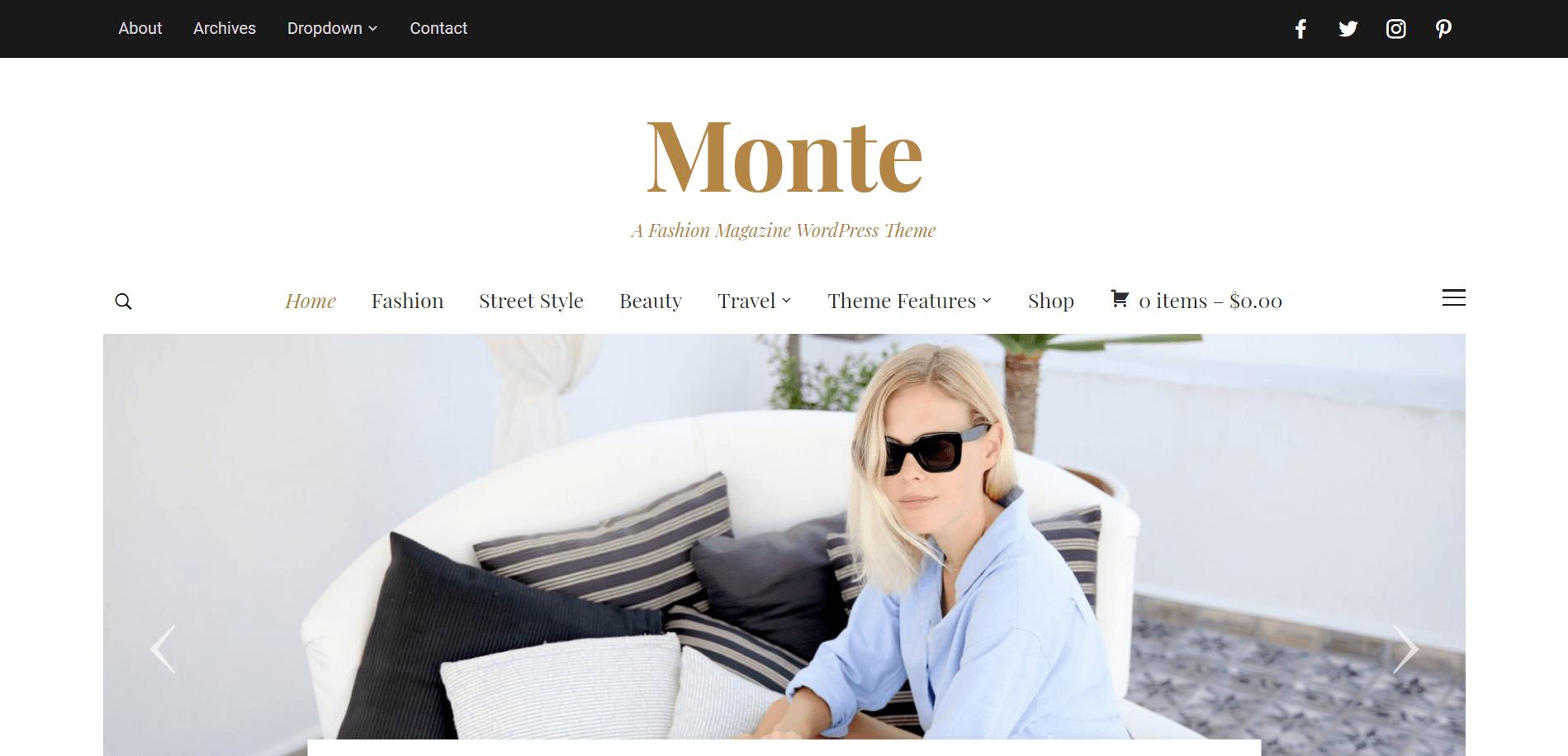 Monte WordPress Minimal Theme