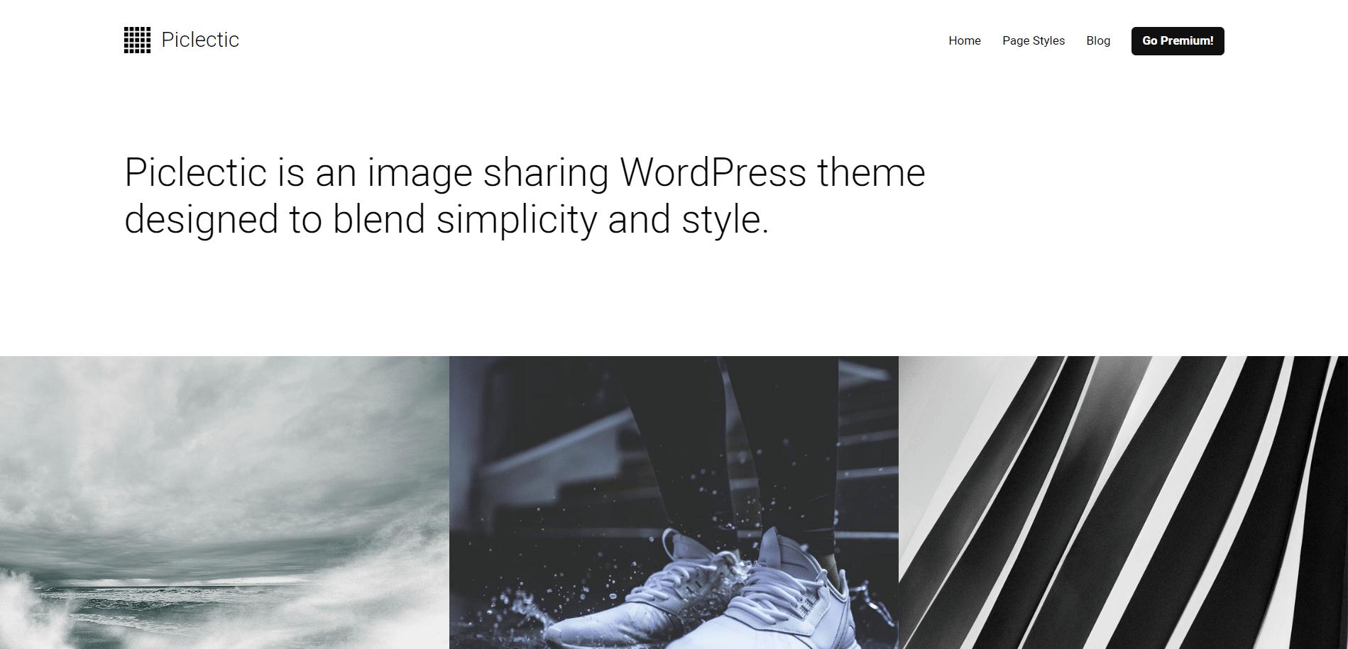 Piclectic Minimal WordPress Theme