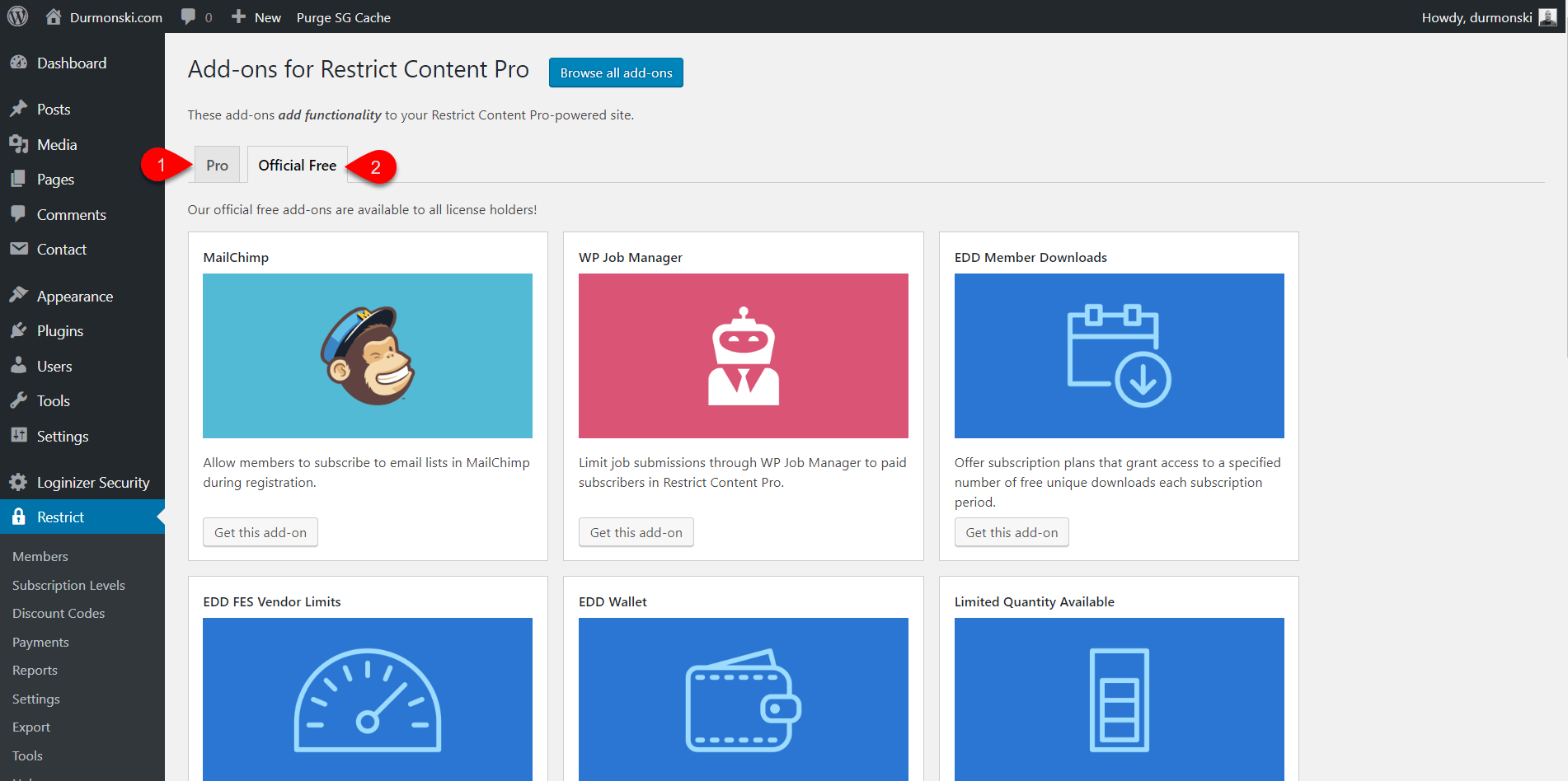Restrict Content Pro Detailed wordpress membership 20
