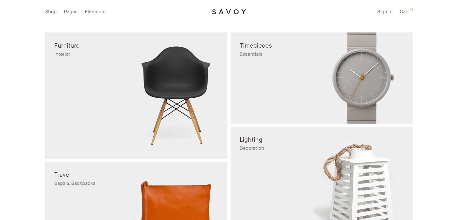 Savoy WordPress Minimal Theme