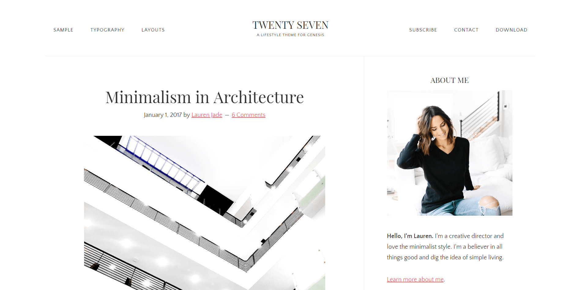 TWENTY SEVEN Minimal WordPress Theme