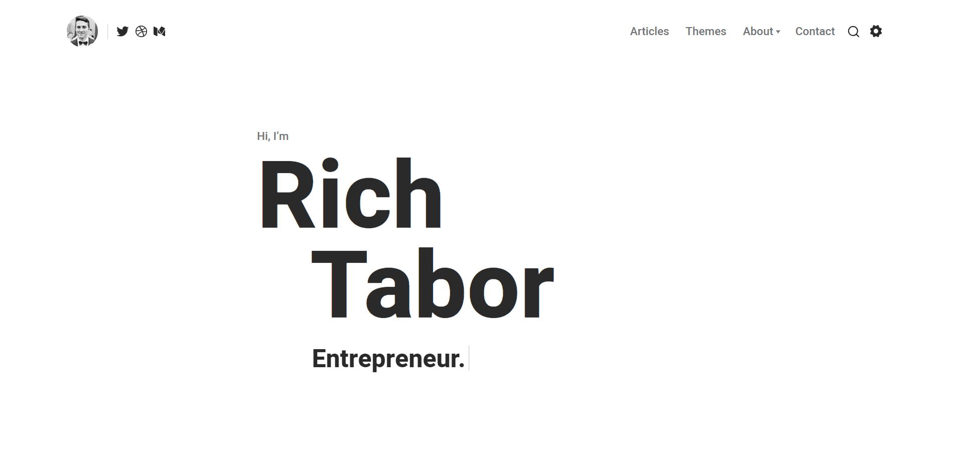 Tabor WordPress Minimal Theme