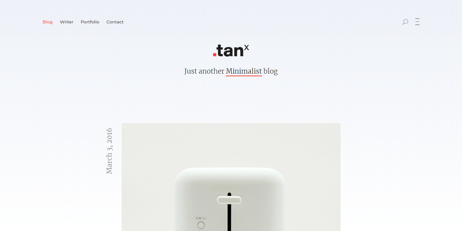 Tanx Minimal WordPress Theme