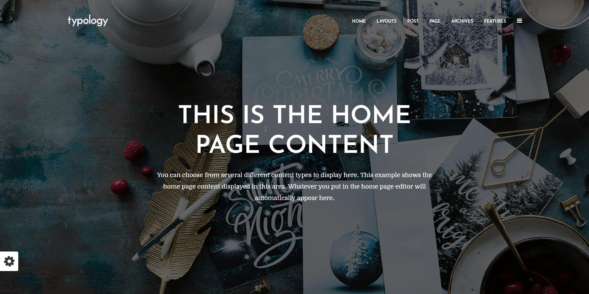 Typology Minimal WordPress theme