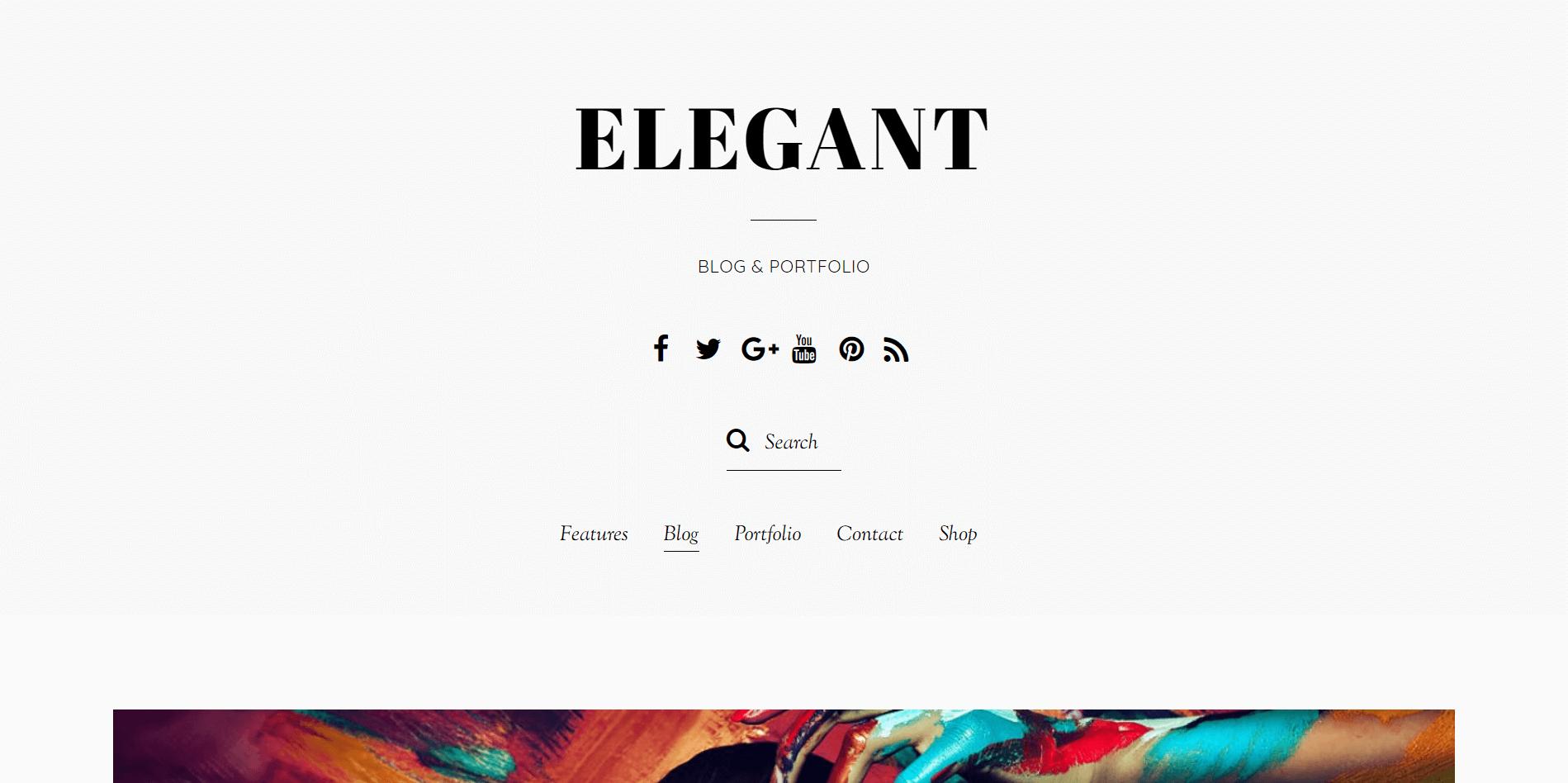 Elegant WordPress Minimal Theme