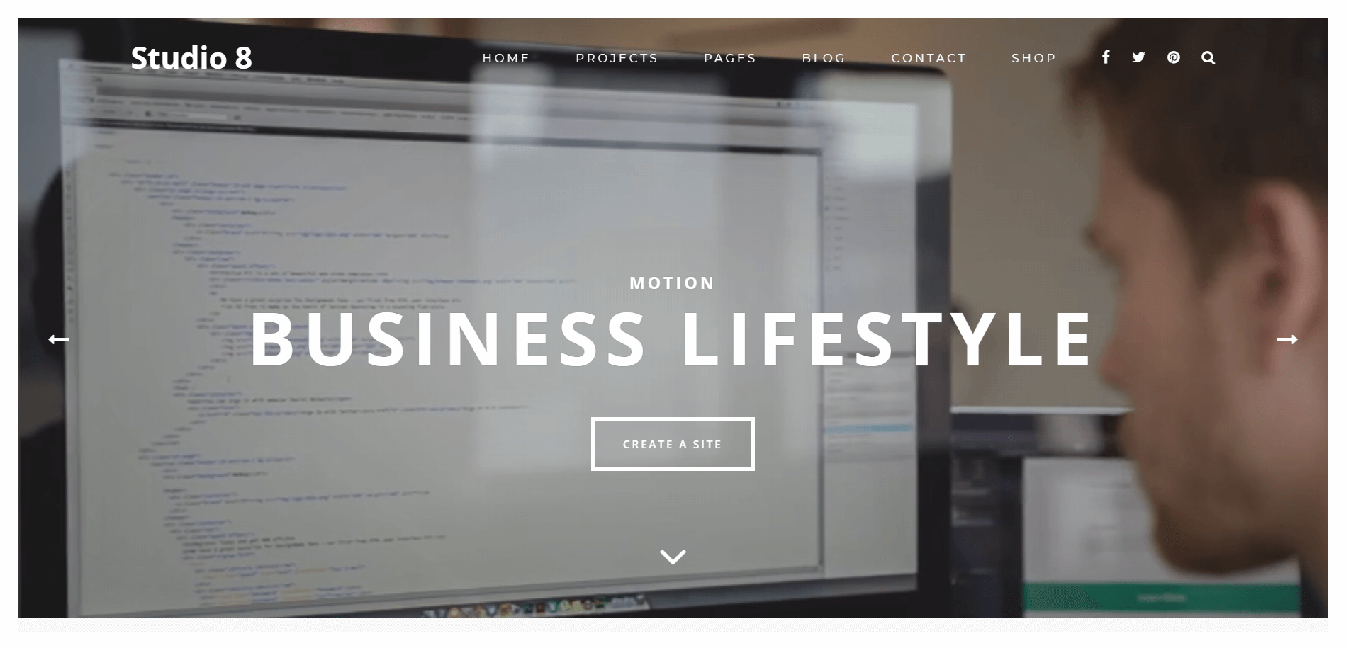 studio 8 Minimal WordPress Theme