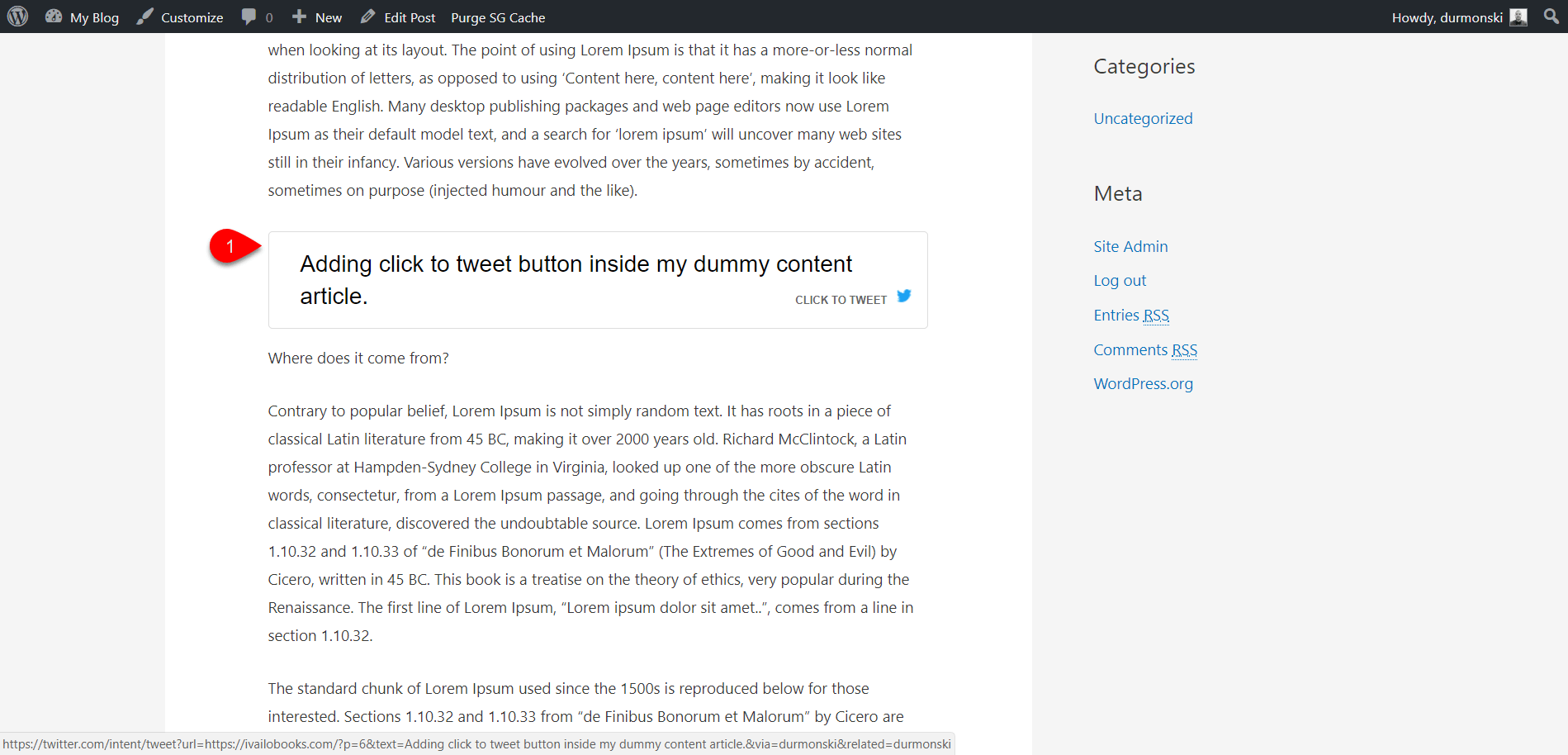 Add Better Click To Twee plugin 7