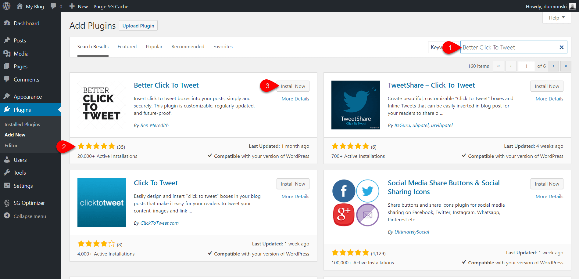 Add Better Click To Twee plugin