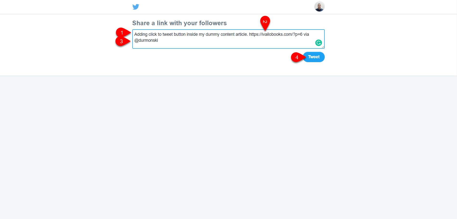 Click to Tweet Button byCoschedule 5