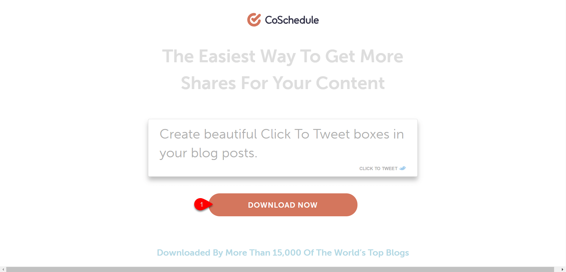 Click to Tweet Button by Coschedule
