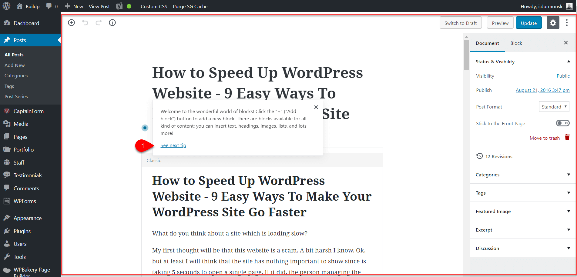 Gutenberg WordPress Editor Plugin 4